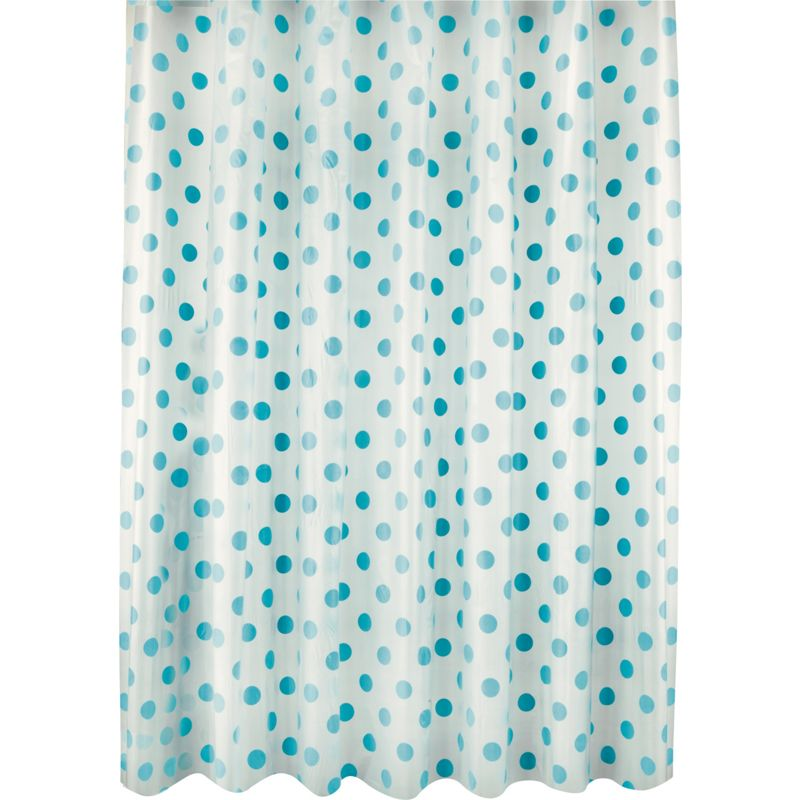 living dots shower curtain aqua brighten up your bathroom with this