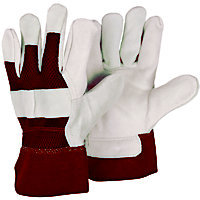 Briers Mens Rigger Gardening Gloves in Red (Twin Pack)