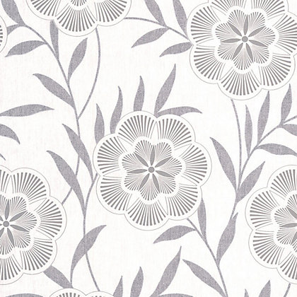 Image for Superfresco Easy Paste the Wall Flora Wallpaper - Grey from StoreName