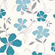 Superfresco Easy Paste the Wall Rapture Wallpaper - Teal and Silver