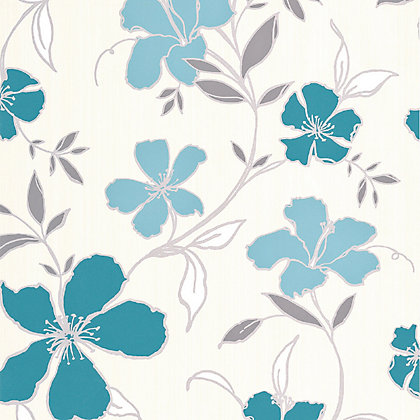 Image for Superfresco Easy Paste the Wall Rapture Wallpaper - Teal and Silver from StoreName