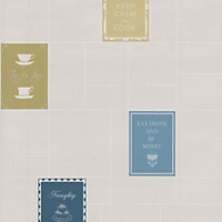 Graham and Brown Contour Keep Calm Wallpaper - Blue, Green, White