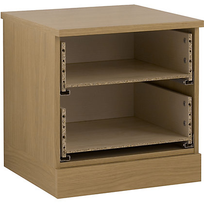 Image for Schreiber 2 Drawer Bedside Chest - Oak from StoreName