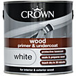 Crown Wood Primer and Undercoat Paint - White - 2.5L