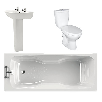 Image for Bartley White Bathroom Suite Great Value Pack from StoreName