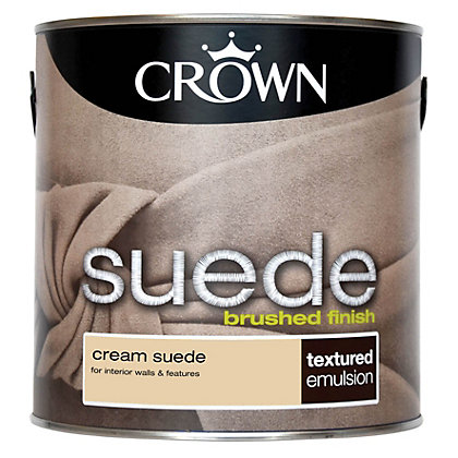 Image for Crown Fashion For Walls Cream - Suede Matt Emulsion Paint - 2.5L from StoreName