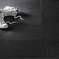 Value Vinyl Tile - Black - 0.56 sq m per Pack