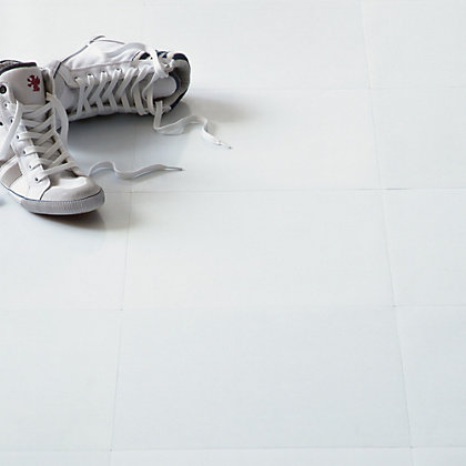 Image for Value Vinyl Tile - White - 0.56 sq m per Pack from StoreName
