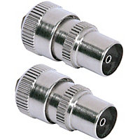 Homebase - Coaxial Alloy Plugs For TV Or FM - Pack of 2