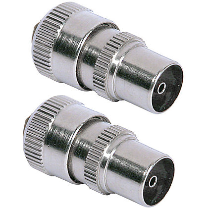 Image for Homebase - Coaxial Alloy Plugs For TV Or FM - Pack of 2 from StoreName