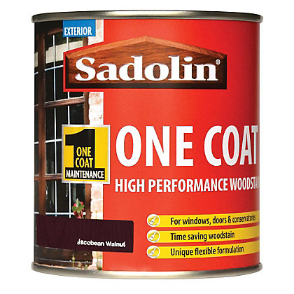 Image for Sadolin Advanced One Coat Woodstain - Jacobean Walnut - 500ml from StoreName