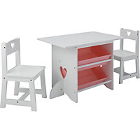 Mia Table and Chairs - White.