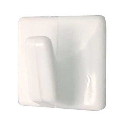 Image for Small Square Self-adhesive Hook - White - 4 Pack from StoreName