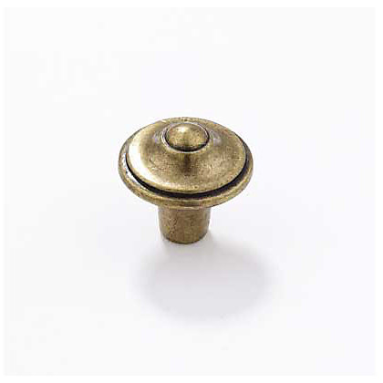 Image for Pointed Cabinet Door Knob - Antique Brass - 30mm - 1 Pair from StoreName