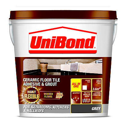 Image for Unibond Wooden Floor Tile Adhesive & Grout - Grey from StoreName