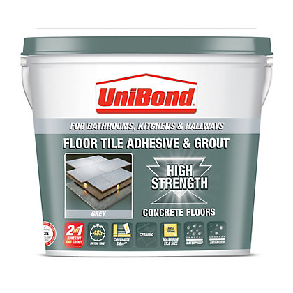 Image for Unibond Ceramic Floor Tile Adhesive & Grout - Grey from StoreName