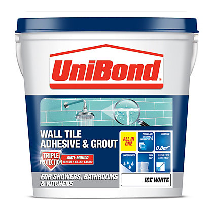 Image for Unibond Wall Tile Adhesive & Grout - Ice White - 1L from StoreName