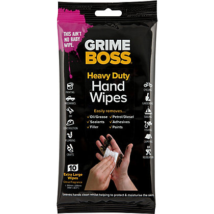 Image for Grime Boss Heavy Duty Hand Wipes from StoreName