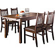 Hygena Cucina Extending Dining Table and 4 Chairs - Walnut