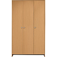 Seville 3 Door Wardrobe - Beech Effect.