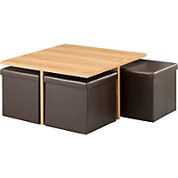Ohio Ottoman Coffee Table - Chocolate an