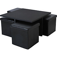 Ohio Ottoman Coffee Table - Black.