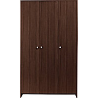 Seville 3 Door Wardrobe - Wenge Effect.