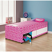 Divans storage beds available online at homebase now for Shorty divan bed