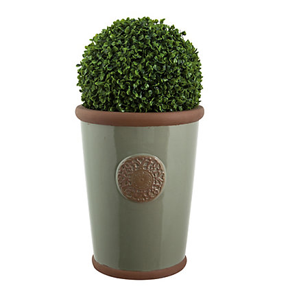 Image for Millicent Motif Green Plant Pot - 22cm from StoreName
