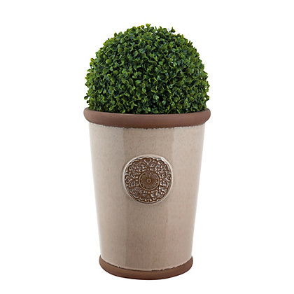 Image for Millicent Motif Dusty Pink Plant Pot - 22cm from StoreName