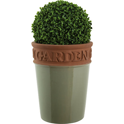 Image for Millicent Green Plant Pot - 22cm from StoreName