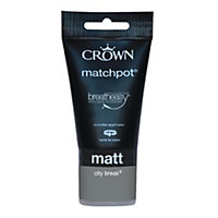 Crown Breatheasy City Break Standard - Emulsion Matt Paint - 40ml Tester