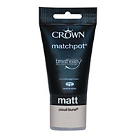 Crown Breatheasy Cloud Burst Standard - Emulsion Matt Paint - 40ml Tester
