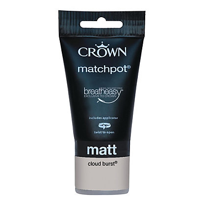 Image for Crown Breatheasy Cloud Burst Standard - Emulsion Matt Paint - 40ml Tester from StoreName