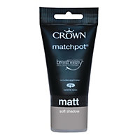 Crown Breatheasy Soft Shadow - Standard Emulsion Matt Paint - 40ml Tester