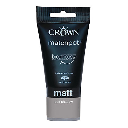 Image for Crown Breatheasy Soft Shadow - Standard Emulsion Matt Paint - 40ml Tester from StoreName