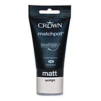 Crown Breatheasy Spotlight - Standard Emulsion Matt Paint - 40ml Tester