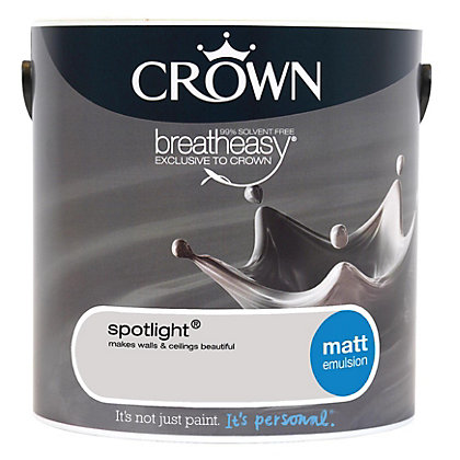 Image for Crown Breatheasy Spotlight - Standard Emulsion Matt Paint - 2.5L from StoreName