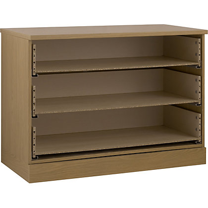 Image for Schreiber 3 Drawer Wide Chest - Oak from StoreName