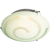 Simone Swirl Glass Flush Light