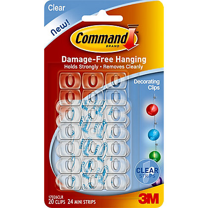 Image for 3M Command Clear Decorating Clips from StoreName