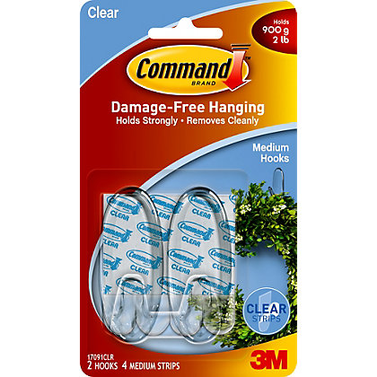 Image for 3M Command Clear Medium Oval Hooks from StoreName