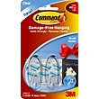 3M Command Clear Small Oval Hooks