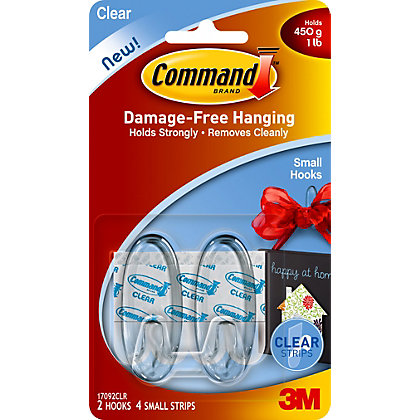 Image for 3M Command Clear Small Oval Hooks from StoreName