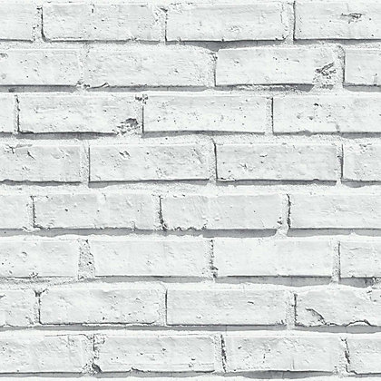Image for Arthouse Brick Wallpaper - White from StoreName