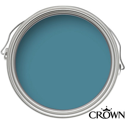 Image for Crown Breatheasy Solo Teal - One Coat Matt Emulsion Paint - 2.5L from StoreName