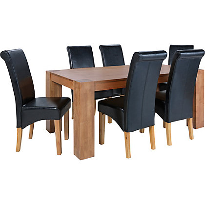 dining chairs including leather oak fabric from homebase. Black Bedroom Furniture Sets. Home Design Ideas