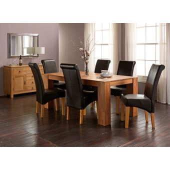 Brown modern dining room furniture for Dining room tables homebase