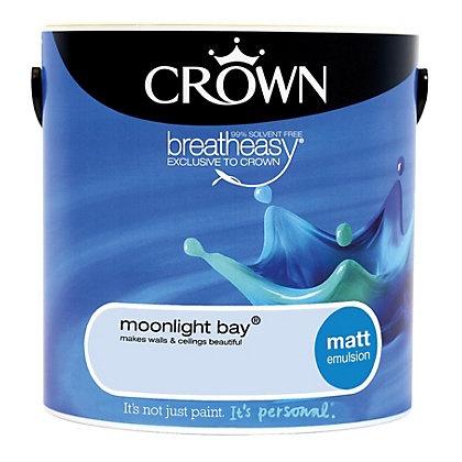 Image for Crown Breatheasy Moonlight Bay - Matt Emulsion Paint - 2.5L from StoreName