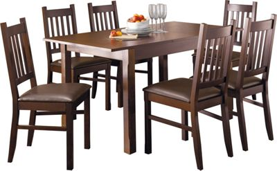 Homebase hygena cucina extending dining table and 6 for Top rated dining tables